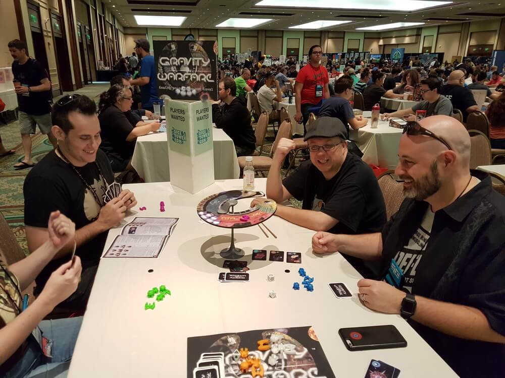 Triple challenge for Tox... Do you see the victory fists? Good luck! Dice Tower Con 2017